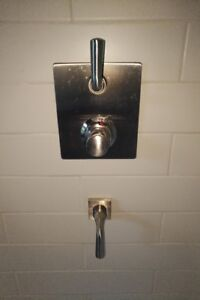 Thermostatic Shower Faucet Set - With Hand Shower, Rain Shower