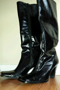 LADIES BLACK DRESS BOOTS - LIKE NEW!!!  PRICE REDUCED