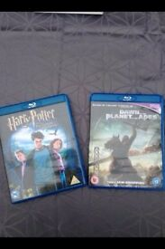 Harry potter and planet of the apes bluray DVDs