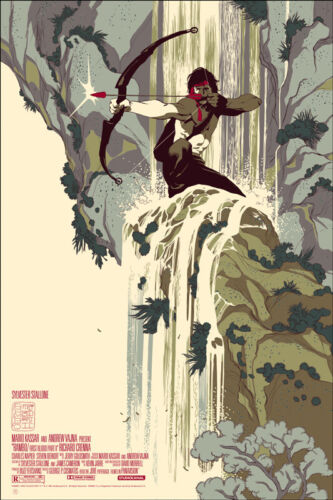 Rambo: First Blood Part II Poster - Mondo - Tomer Hanuka - Limited Edition