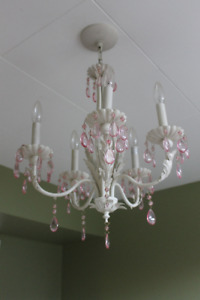 Girl's room chandelier