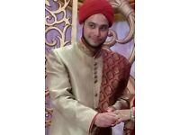 Indian wedding sherwani and turban