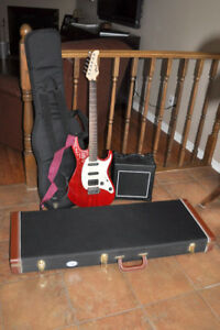 Electric Guitar with Amp and Cases