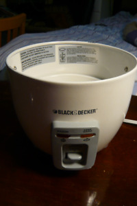 Black & Decker Whole Rice Cooker assembly: Model: RC3406 TYPE1