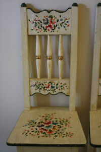 Two Handpainted Floral Child's/Doll Chairs Peterborough Peterborough Area image 2