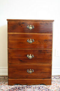 Solid wood dresser / chest of drawers