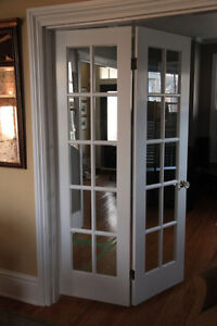 Solid wood interior French doors