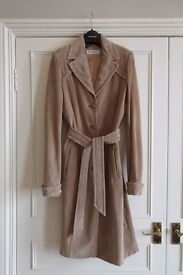 Topshop Suede Trench Coat Size 10