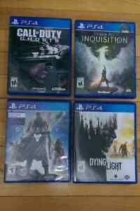 PS4 games - Destiny, dying light, dragon age, call of duty ghost