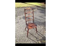 Set of 6 rare Ercol dining chairs
