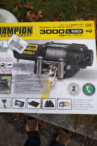 winch champion atv winch 3000lb brand new in box complete kit