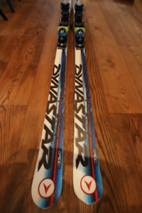 Super G race skis - 176 cm - DYNASTAR with bindings (MINT COND)