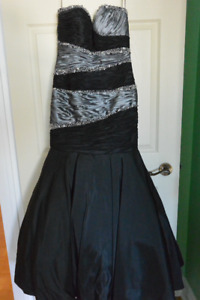 BLACK and SILVER EVENING GOWN