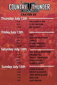 Craven, SK country thunder (Tent site only)