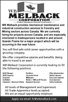 WB Melback Hiring for All Trade Apprentice and Labourers