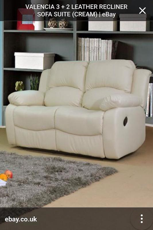 Leather Reclining Sofa In Honley West Yorkshire Gumtree