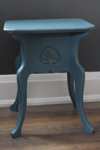 Beautiful solid wood side table! - Professionally Refinished