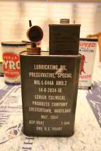 1954 ARMY LUBRICANT OIL TIN CAN
