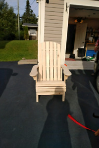 Handcrafted Solid pine Adirondack chair !