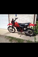 1984 Honda xl350r Enduro, street legal dirt bike