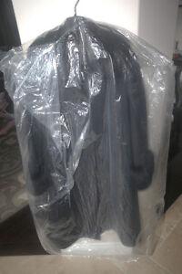 Hokla Modell Jacket - Black Fox Fur & 100% Wool!
