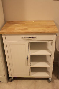 Rolling Butcher Block with Storage