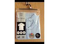 Boys school polo shirts x2 brand new