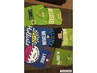 Selection of Hollister T-Shirts, Small, Medium, Large, XL Kids