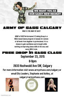 ARMY OF SASS CALGARY- FREE SASS CLASS DROP IN!