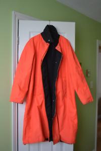 Male Reversible Rain Coat - Size Medium.
