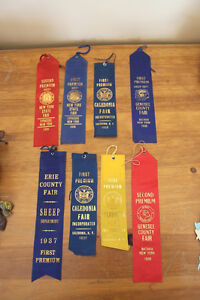 Old Prize Ribbons From 1930's