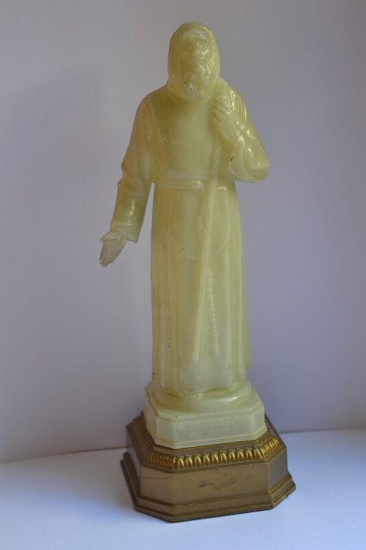 Antique Statue Figure St Francis De Paula