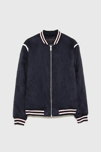 New Zara Faux Suede Bomber Jacket S L leather diesel dsquared