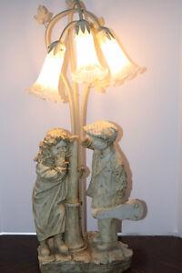 Shy Little Girl & Flirting Little Boy Crosa Collection Lamp Belleville Belleville Area image 5
