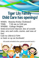 Daycare has 2 spaces open in July