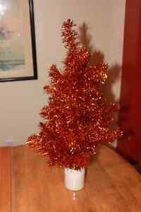 Arbre de Noël orange vintage 24 pouces