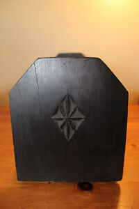 Vintage Wooden Book Holder with Chip Carving London Ontario image 4