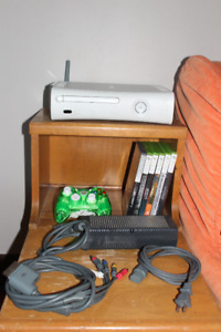 XBOX 360 with games, cables and accessories
