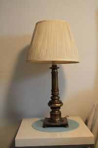 Brass Lamps with lampshades