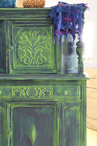 ANTIQUE HUTCH, SANTA FE STYLE, REFINISHED, FOR HOME OR COTTAGE
