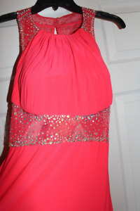ROBE DE BAL CORAILLE/ SPARKLY CORAL PROM DRESS