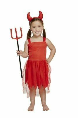 Roter Teufel Kleinkind Halloween Kostüm Hörner Mädchen 2-4 Jahre - Kleines Mädchen Teufel Halloween Kostüm