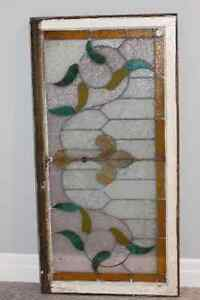Vintage Stained Glass Window - 24x48