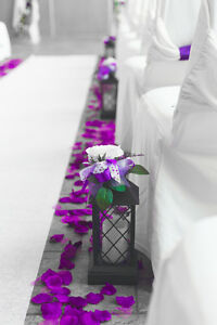 Wedding Lanterns & Lavender Hearts