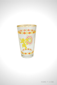 'THE GAME OF THRONES - LANNISTER YELLOW' Glass