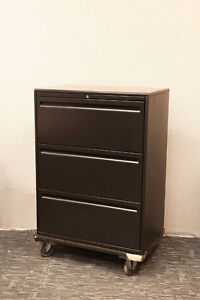 """Filing Cabinet - Charcoal - 4 Drawer 36"""" wide - Haworth-$299"""