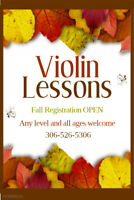 Violin Lessons - Fall Registration Open