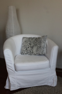 Ikea Tullsta Armchair with white cover