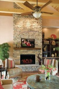 Classic Flame 36 Built-In Wall Mount Electric Fireplace Insert (