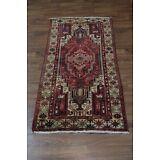 Very Unique Medium Size Handmade Meshkin Persian Oriental AreaRug Carpet 3'7X7'4